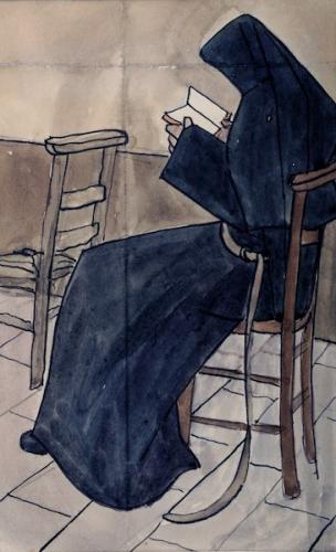 Mère Geneviève Gallois - Painting